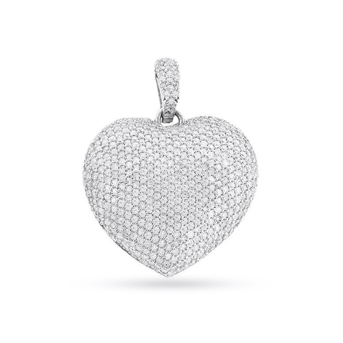 14K Yellow Gold Heart Pendant With 2.83CT Diamonds