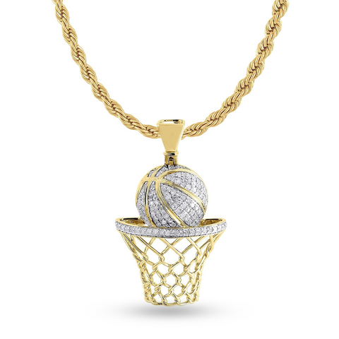 10K Yellow Gold Custom Pendant With 0.80CT Diamonds