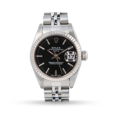 PRE OWNED ROLEX DATE JUST  JUBILEE BAND STAINLESS