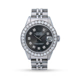PRE OWNED ROLEX JUBIEE BAND CUSTOMED 6.00 DIAMONDS