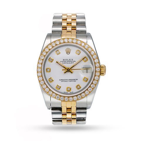 ROLEX LADY-DATEJUST  WHITE DIAL WITH TWO TONE JUBILEE BRACELET