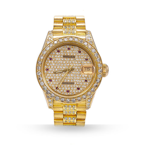 ROLEX  PRESIDENTIAL CUSTOM DIAMOND BEZEL W/ DIAMOND BRACELET