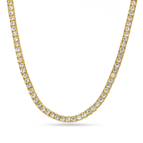 10K Yellow Gold Tennis Chain With 9.51CT Diamonds