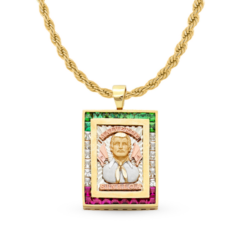 GOLD PENDANT MALVERDE 14K YELLOW GOLD