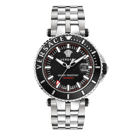Stainless Steel V-Race Diver w/ Luminous Hands