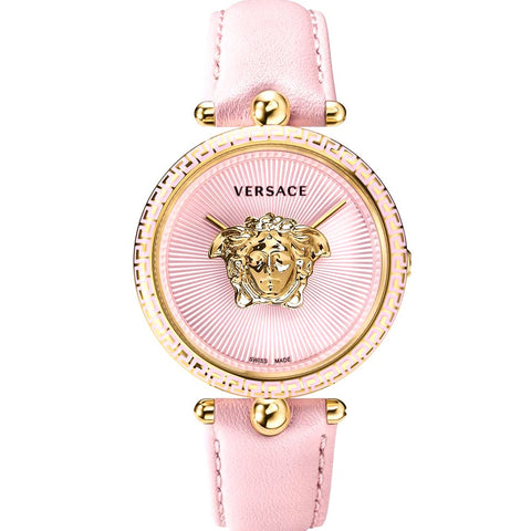Pink Sunray Versace Palazzo Empire Yellow Gold w/ 3D Medusa