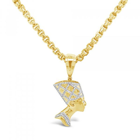 Diamond Pendant .25 CTW Round Cut 10K Yellow Gold