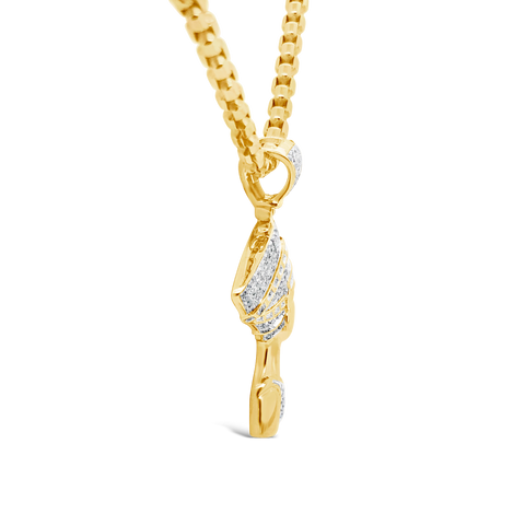Diamond Pendant .59 CTW Round Cut 10K Yellow Gold