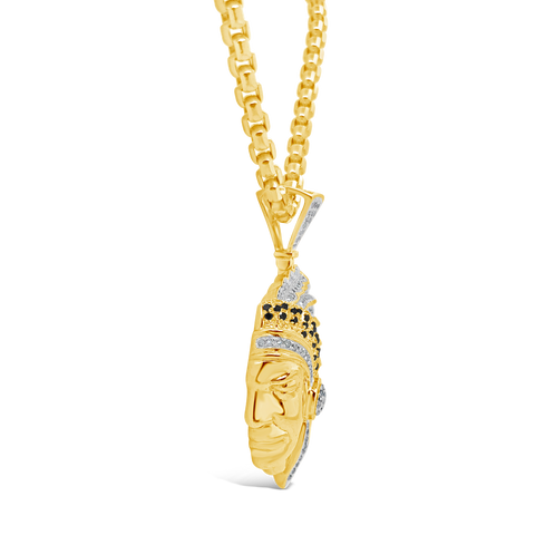 Diamond Pendant .1.26 CTW Round Cut 10K Yellow Gold