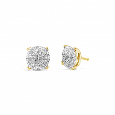 10K Yellow Gold .24ct Diamond Circle Earrings