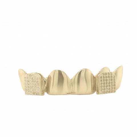 6 Piece 10K Gold Grill with CZ Fangs