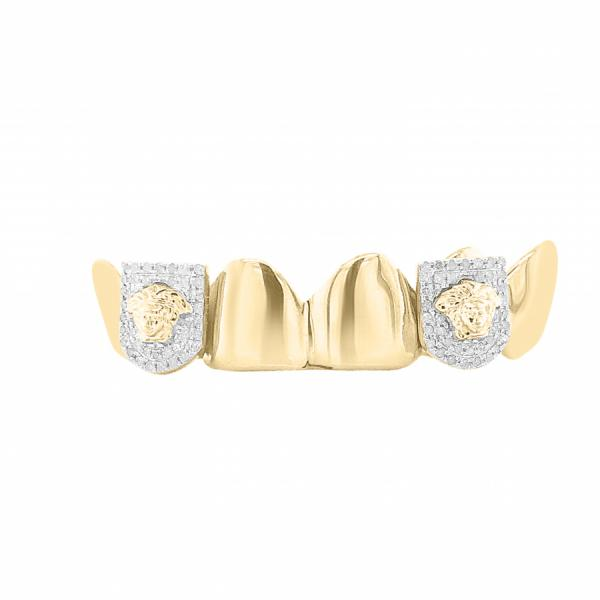 6 Piece 10K Gold Grill with .50ct Diamond Fangs