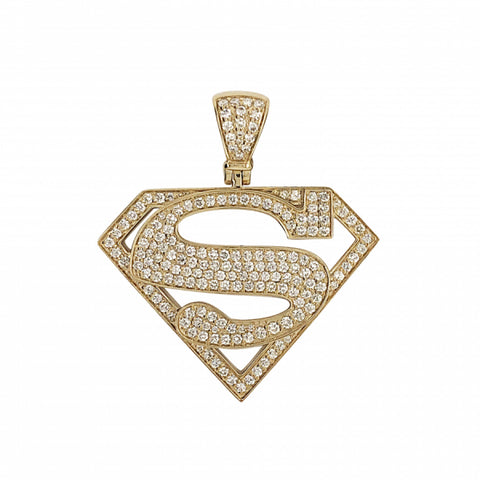 2.14ct Diamond SuperMan Pendant