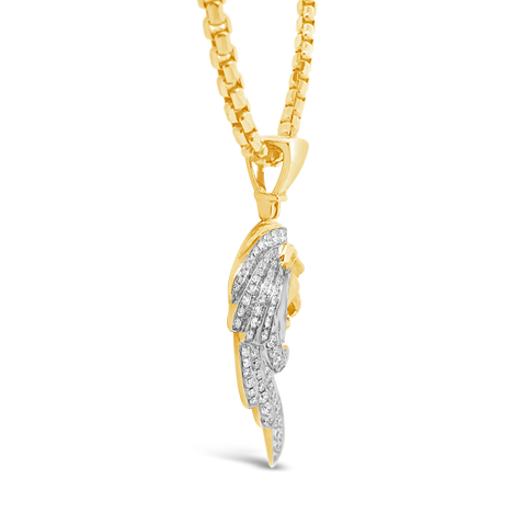 Diamond Pendant 1.20 CTW Round Cut 10K Yellow Gold