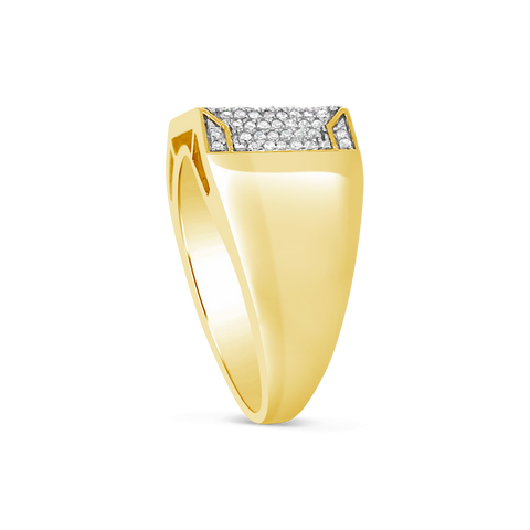 Diamond Ring 1.05 CTW Round Cut 10K Yellow Gold