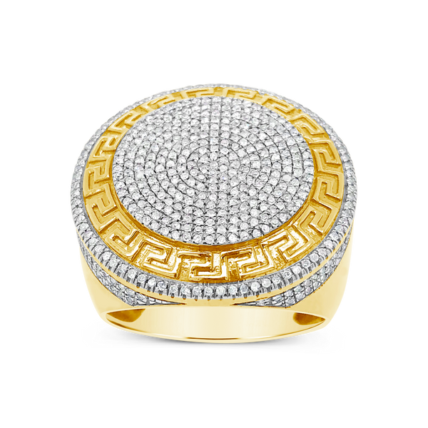 Diamond Designer Ring 1CT tw Round Cut 10K Yellow Gold