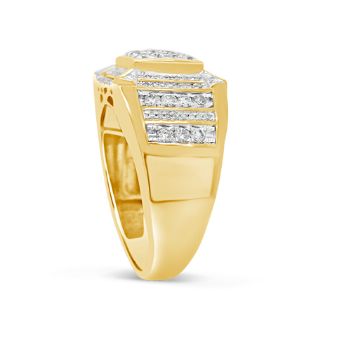 Diamond Ring 1.11 CTW Round Cut 10K Yellow Gold