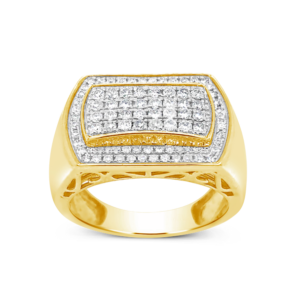 Diamond Ring 1.04CT tw Round Cut 10K Yellow Gold