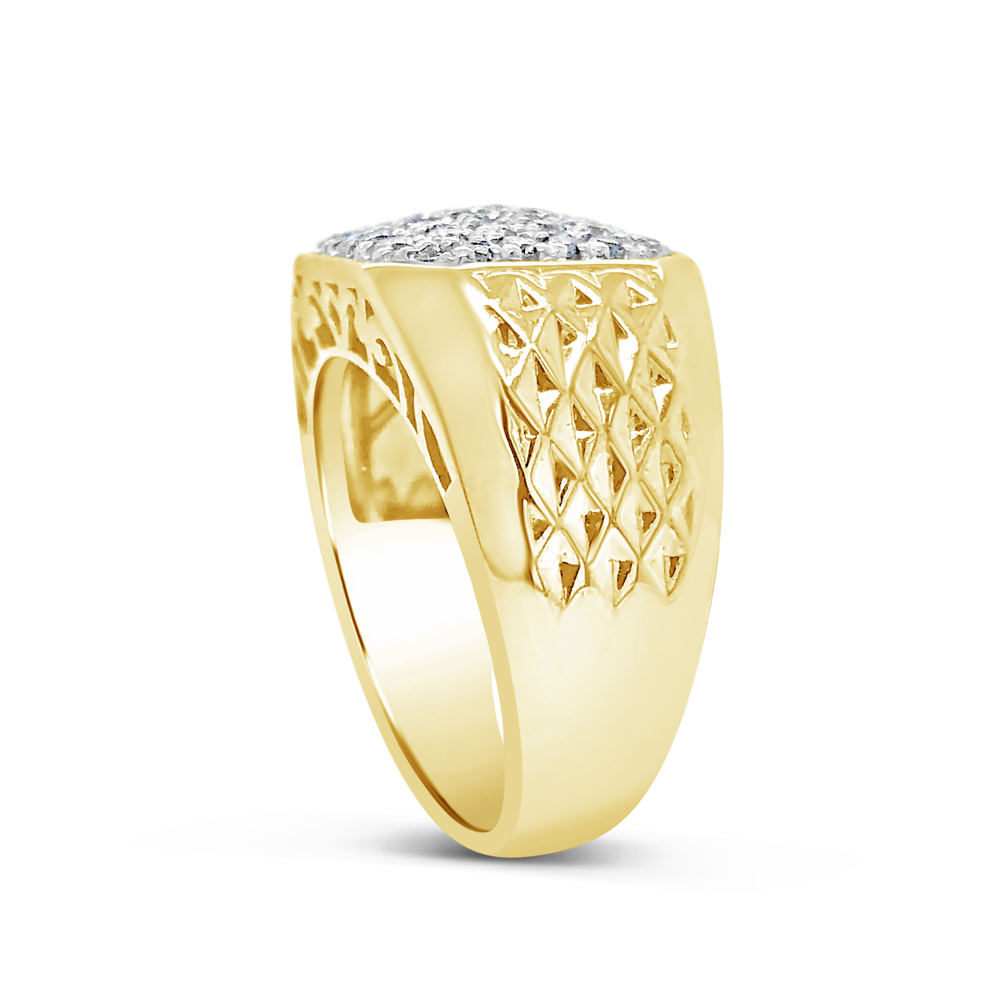 Diamond Ring 1.04 CTW Round Cut 10K Yellow Gold