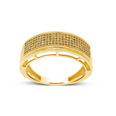 Yellow Canary Diamond Ring .31 CTW Round Cut 10K Yellow Gold
