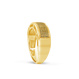 Yellow Canary Diamond Ring .31CT tw Round Cut 10K Yellow Gold