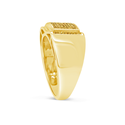 Yellow Canary Diamond Ring .25 CTW Round Cut 10K Yellow Gold