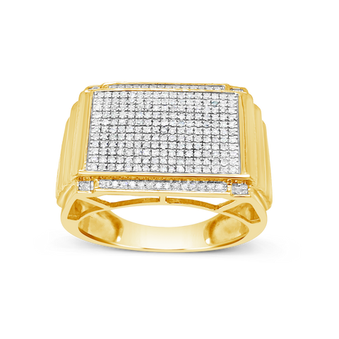 Diamond Ring .47 CTW Round Cut 10K Yellow Gold