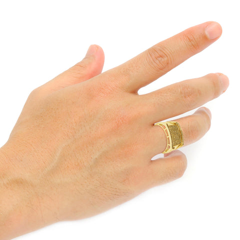 Yellow Canary Diamond Ring .58 CTW Round Cut 10K Yellow Gold