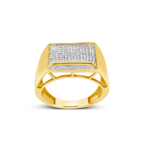 Diamond Ring .31 CTW Round Cut 10K Yellow Gold