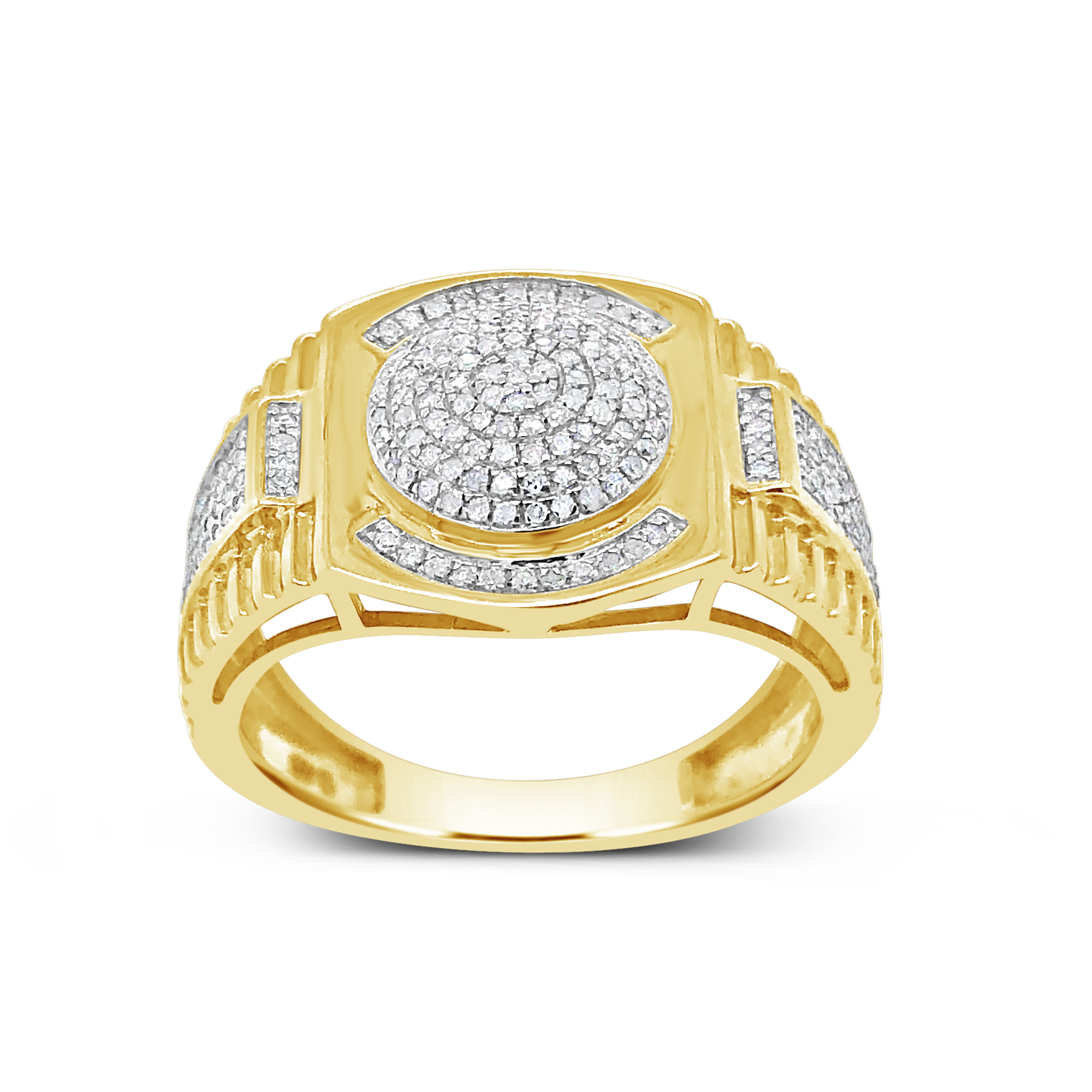 Diamond Ring .48 CTW Round Cut 10K Yellow Gold