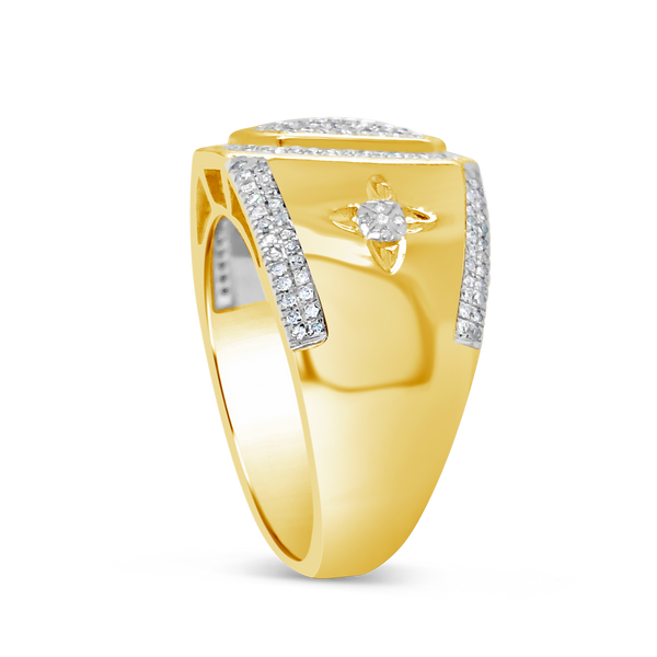 Diamond Ring .49CT tw Round Cut 10K Yellow Gold