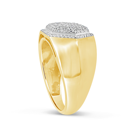 Diamond Ring .32 CTW Round Cut 10K Yellow Gold