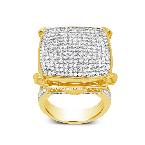 Diamond Ring 1.67CT tw Round Cut 10K Yellow Gold