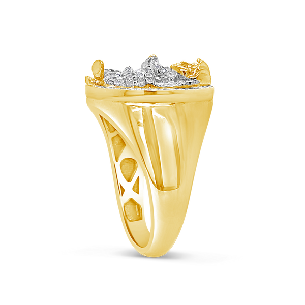 Diamond Angel Ring .40CT tw Round Cut 10K Yellow Gold