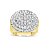 Diamond Ring 2.92 CTW Round Cut 10K Yellow Gold