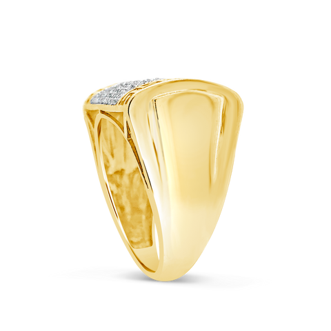 Diamond Ring .49 CTW Round Cut 10K Yellow Gold