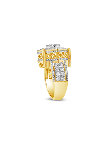 Diamond Ring 2.29CT tw Round Cut 10K Yellow Gold