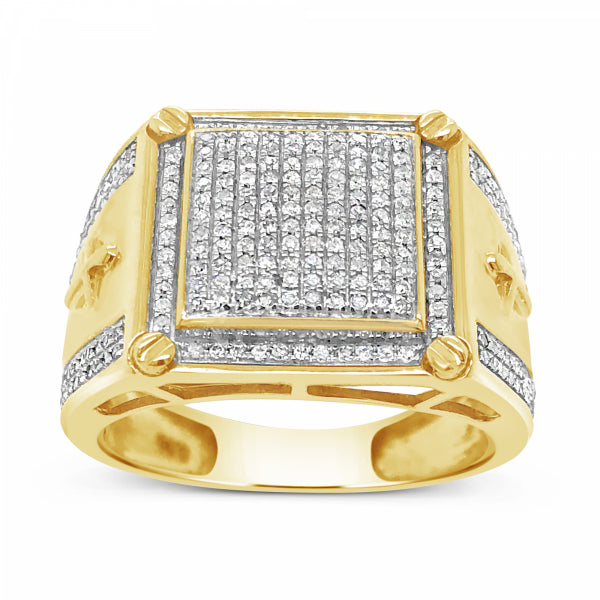 Diamond Ring .56 CTW Round Cut 10K Yellow Gold