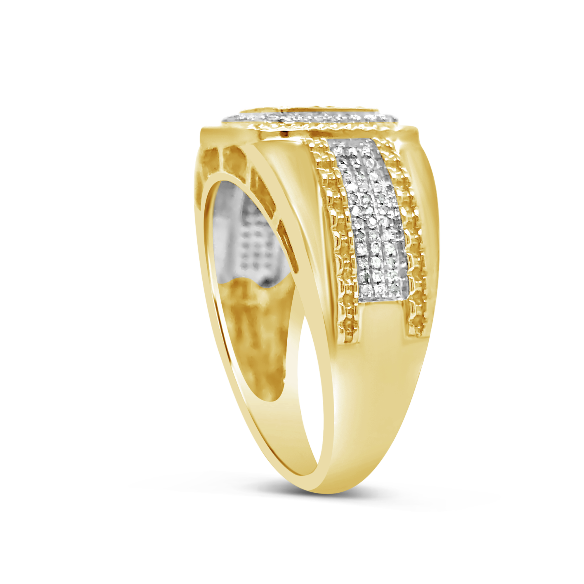 Diamond Ring .35 CTW Round Cut 10K Yellow Gold