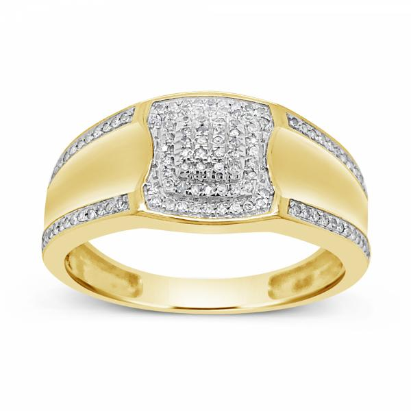 Diamond Ring .17CT tw Round Cut 10K Yellow Gold