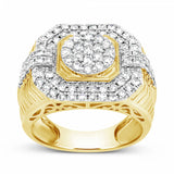 Diamond Ring 1.55 CTW Round Cut 10K Yellow Gold
