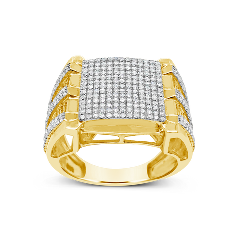 Diamond Ring 1.02 CTW Round Cut 10K Yellow Gold