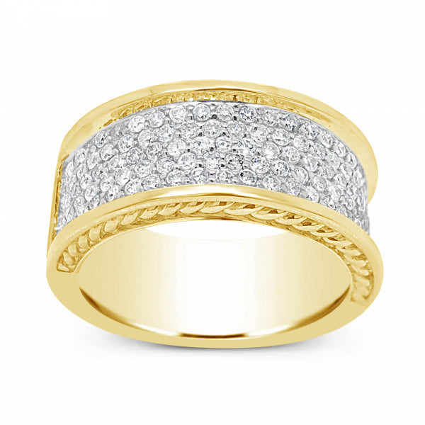 Diamond Ring 1.53 CTW Round Cut 10K Yellow Gold