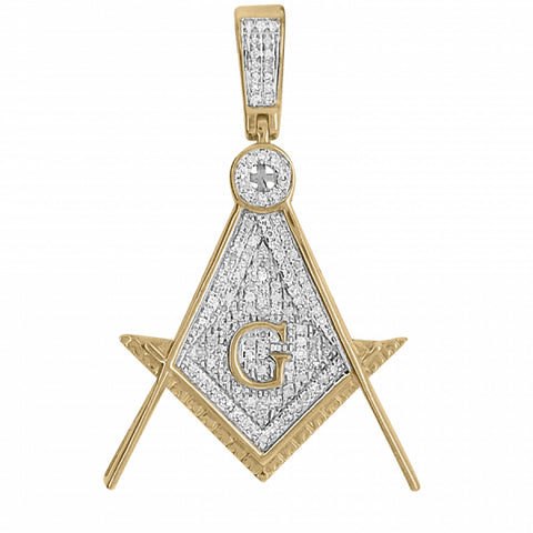 .36ct /diamond Free Masons Pendant