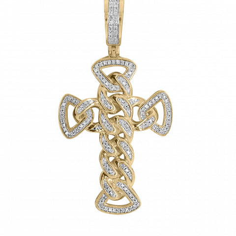 .40ct Diamond Cuban Link Cross