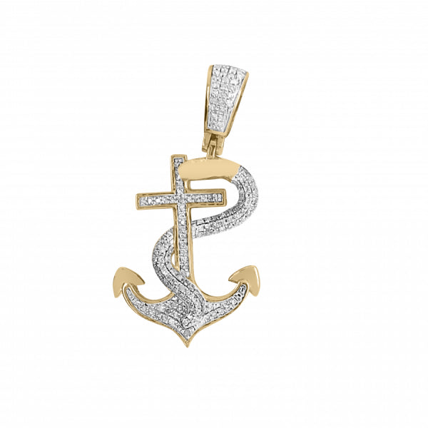 .45ct Diamond Snake Cross Pendant