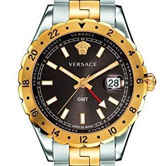 42mm Two Tone Brown Face Versace Hellenyium Watch