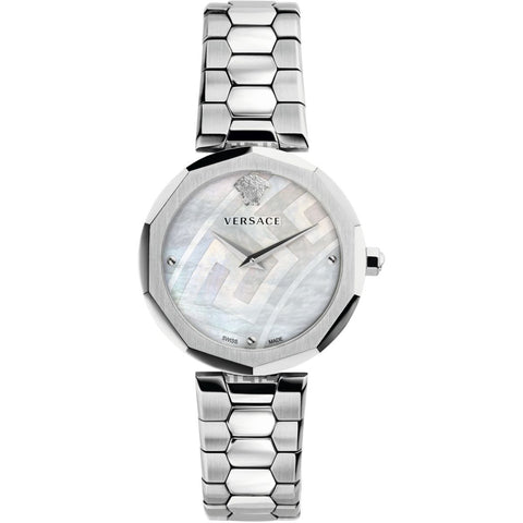 36mm Versace Idyia Watch Stainless Steel w/ Mother of Pearl Face