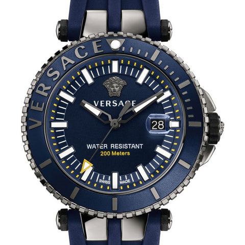 Blue V-Race Diver w/ Luminous Hands & Blue Silicon Strap