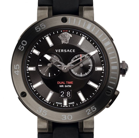 Black V-Extreme Pro w/ Luminous Hands & Black Silicon Strap